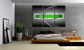 metallic grün ii leinwand 3 bilder style abstrakt c00933