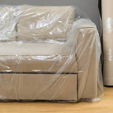 housse de protection canapé housse de fauteuil petit meuble transparent x l 0 cm leroy merlin