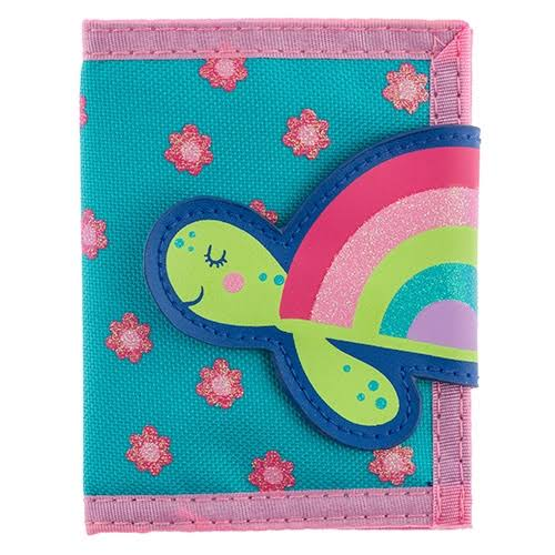 Stephen Joseph Kid's Wallet Blue & Pink Rainbow Turtle Wallet One-Size