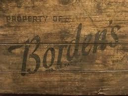 Vintage Borden Milk Dairy Wood Metal Crate Box Advertising New York Bordens