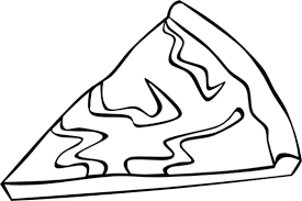 Cheese Pizza Slice b And W clip art