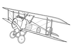 Free Coloring Pages For Boys And Girls Technique Aircraft Airplane
