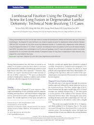 si e orthop ique lumbosacral fixation the diagonal pdf available