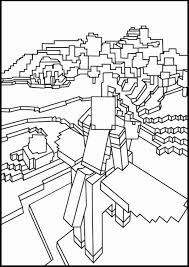 Minecraft Coloring Pages Herobrine New Diamond Armor Steve Also