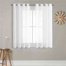 de mrtrees voile gardinen vorhang halbtransparent