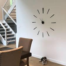 large modern wall clock black elegance wanduhren