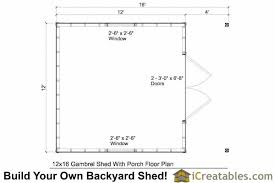 Gambrel Shed Plans 16x20 by Griswouls 12x16 Gambrel Barn Shed Plans