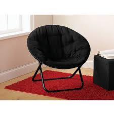 mainstays microsuede saucer chair multiple colors walmart com