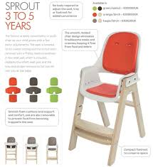 Oxo Seedling High Chair Manual by Oxo Sprout High Chair Roselawnlutheran