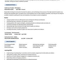 Nursing Resume Template Free Word Pdf Samples Superb