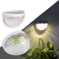 eclipse outdoor solar wall lights pack of 2