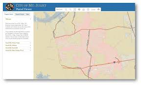 Utilize the interactive map of the City of Mt Juliet