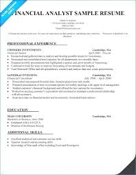 Financial Analyst Resume Fresh Investment Banking Of