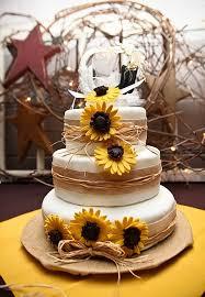 Navy Blue Burlap Sunflower Wedding