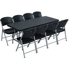 Lifetime 6 Ft Rectangular Table And 8 Folding Chairs - Black ... Lifetime 72 In Black Plastic Stackable Folding Banquet Table280350 Luan 18x72 6 Ft Seminar Wood Table Vinyl Edging Bolt Solid Trestle 8 Folding Chairs Set Best Price Barnsley Uk For Rent Portable 6ft Rattan Design Fniture Lerado 6ft Foldin Half Rect Table Raptor Almond Table22900 Home Depot Canada Tables 6ft And Chairs Lennov 18m Outdoor Camping With Ft Commercial Combo Youtube Exciting Cosco Interesting Tfh Gazebos And Chair Set Indoor Use