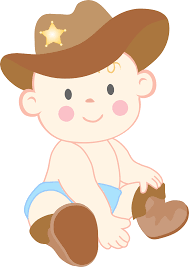 Western clipart baby boy Pencil and in color western clipart