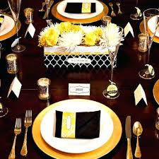 Graduation Table Decor Ideas by Black And Gold Party Centerpieces Black White And Gold Wedding