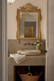 antike spiegel bad gold spiegel über stein spüle