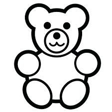 Coloring Pictures Bears Pages Teddy With Hearts Page Bear Free Printable Kids Full Size