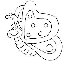 Butterfly Coloring Pages For Kindergarten Toddlers