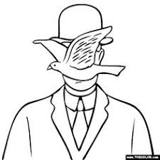 Rene Magritte Coloring Pages