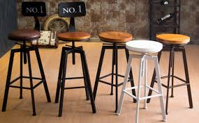 VINTAGE RETRO INDUSTRIAL LOOK RUSTIC SWIVEL KITCHEN BAR STOOL CAFE CHAIR FOR HOME RESTAURANT COFFEE SHOP DINNING In Bar Stools From Furniture On