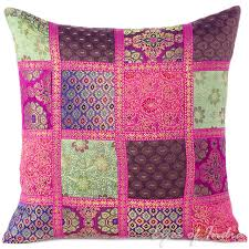 Decorative Couch Pillow Covers by Brocade Silk Patchwork Decorative Throw Couch Boho Sofa Cushion