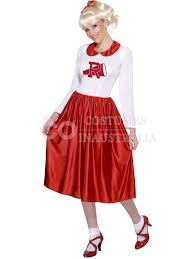 grease sandy costume licensed 50s rydell high cheerleader 1950s