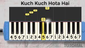 kuch kuch hota hai not pianika chords chordify