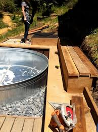 Galvanized Water Trough Bathtub by Livestock Tank Turned Diy Pool Youtube