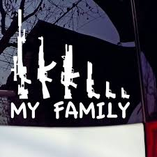 My Gun Family Bumper Sticker Window Funny Laptop Car Truck Decal ... Hunting And Fishing Car Truck Decals Vinyl Stickers For Official Bow Life Bowhunting Archery Funny Windshield For Trucks Best Resource How To Put A Decal On Truck Window Youtube Amazoncom Browning Deer Head Window Decal Sticker 5 Decalsstickers Cars Vehicles Yeti Bigbucklife Custom Waterfowl Trailers Hunter By Design With Disnction Bowhunters Superstore Wipertags Are Wiper Covers That Attach Vehicle Rear Blades Struttin Ruttin Turkey Auto Swamp Donkey Hunting Thisguysdecals