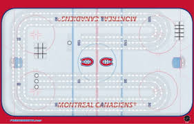 Montreal Canadiens Ice Rink Cribbage Board
