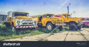 100 Used Service Trucks Soviet Kiev Airport Stock Photo Edit