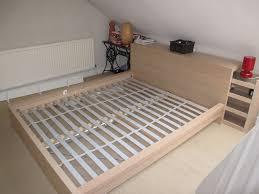 Ikea Malm King Size Headboard by Ikea Malm King Size Bed With Headboard Storage Unit In Oak Veneer