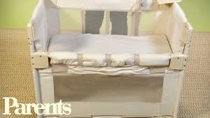 Co Sleepers That Attach To Bed by How To Use Co Sleepers For Babies Parents Youtube