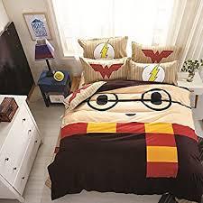 amazon com casa 100 cotton kids bedding set harry potter duvet
