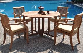 Dining Table Set Walmart by Furniture 5 Piece Luxurious Grade A Teak Dining Set 48 Round