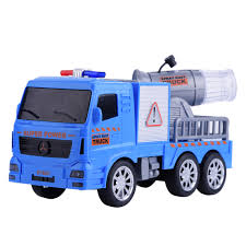 Blue Mini Sensor Truck Spray Water Car Model Toy Early Learning ...