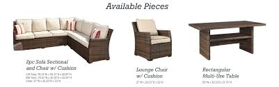 Amazon Patio Lounge Cushions by Amazon Com Signature Design By Ashley P451 822 Salceda Table
