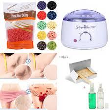 Pot Salon Spa Wax Kit Heater Waxing Hair Removal With Hot Wax Bean
