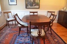 details zu esszimmertisch aus mahagoni inkl 6 stühlen klassizistischer stil