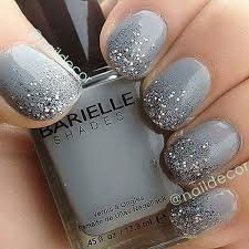 Gray with glitter towards tips Nail ideas Pinterest