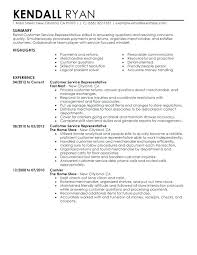 Service Manager Resume Example Sample Resumes For Retail Store Sales Customer Representative Manage