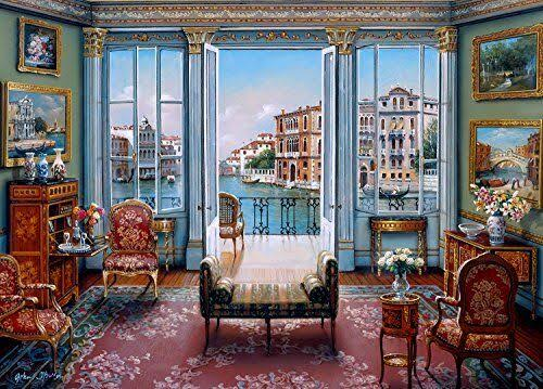 The Jigsaw Puzzle Factory Elegant Interiors 1000 Piece Toy Venetian View