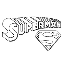 Superman Title Logo And Symbol The With Gang Coloring Pages