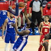 3 observations: Joel Embiid, Sixers get even with Trae Young, Hawks