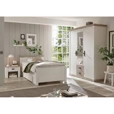 schlafzimmer set 3 tlg ferna 61 in pinie weiß nb mit absetzungen in