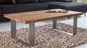 vollholz natur couchtisch massiv altholz teakholz edel design wohnzimmertisch
