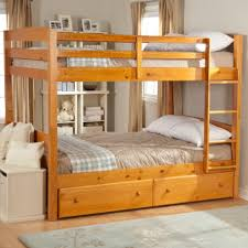various designs of wooden bunk beds to place in the bedroom