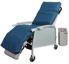 Geri Chair Recliner Cushion Geo Wave by Orthocare Alternating Pressure Geri Chair Overlay